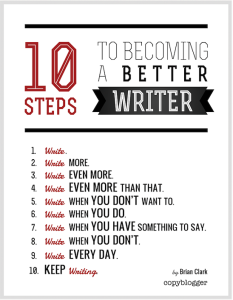 writer steps